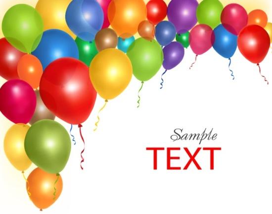 воздушные шары, шарики, фон, рамка, векторные изображения, EPS
