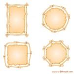 Рамки для меню из бамбука в векторе.