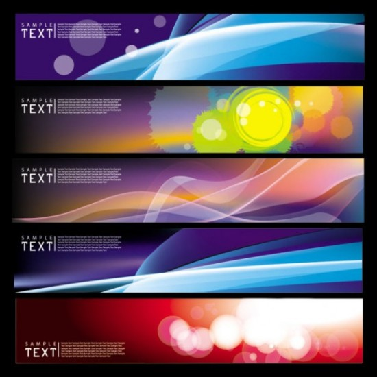 баннеры, свет, блеск, абстрактный рисунок, изображение в векторе, EPS