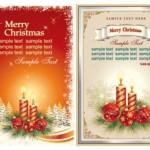 Две новогодние открытки с местом для текста в векторе