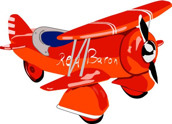Векторный игрушечный самолетик. Игрушка в векторе.