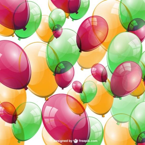 Фон разноцветные воздушные шары в векторе.