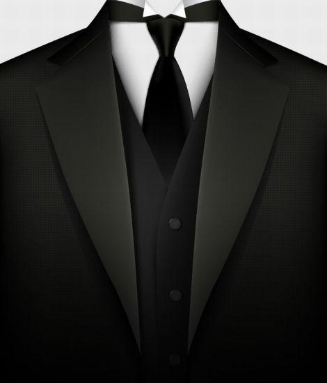 Мужской костюм, галстук, тройка. Векторный рисунок.