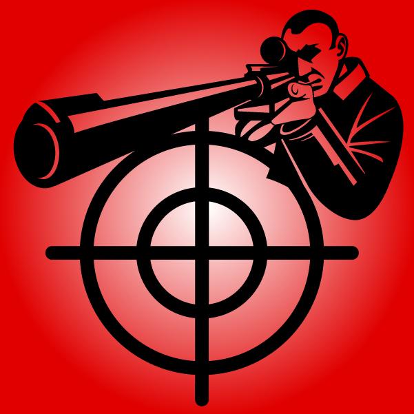 снайпер, снайперская винтовка, мишень, убийство, оружие, рисунок в векторе, EPS