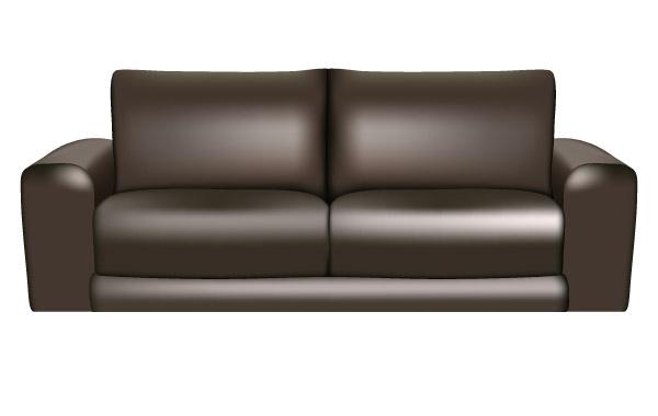 Кожаный диван в векторе