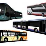 Рисунки автобусов в векторе