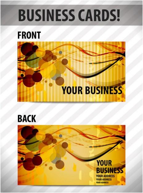 визитка, шаблон двухсторонней визитки в векторе, формат EPS