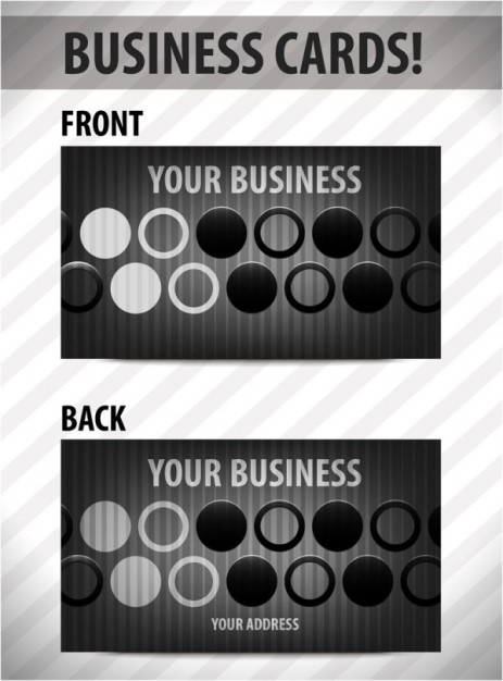 черно - белая визитка, двухсторонняя, шаблон, макет, визитка в векторе, EPS