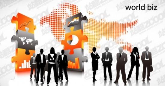 Мировой бизнес. Изображение в векторе