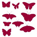 Кисть для фотошоп бабочки силуэт