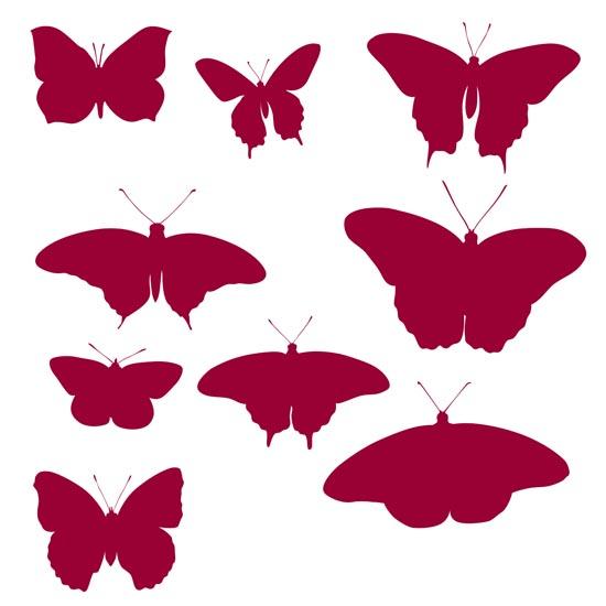 бабочки, крылья, насекомые, силуэт,кисти для фотошопа