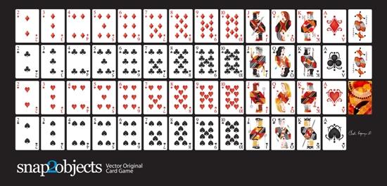 игральные карты, черви, бубны, пики, крести, дама, валет, король, вектор, EPS формат,AI формат, формат SVG