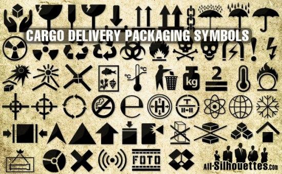 Значки для транспортировки грузов и упаковки грузов