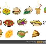 Рисунки еды в векторе.