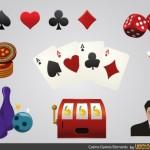 Иконки казино в векторе.