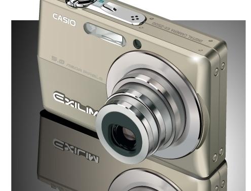 фотоаппарат, фотографировать, Casio, изображение в векторе, AI