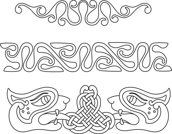 Кельтские узоры. Узор полоска в векторе.