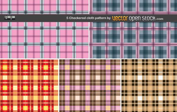Узоры, текстуры, фоны клетки в векторе