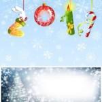 Елочные новогодние игрушки в векторе