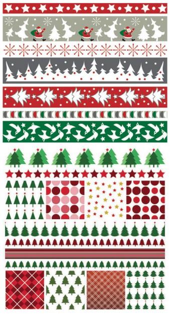 бесшовные узоры. в векторе. Дед мороз, елка, Новый год, узоры в векторе, EPS