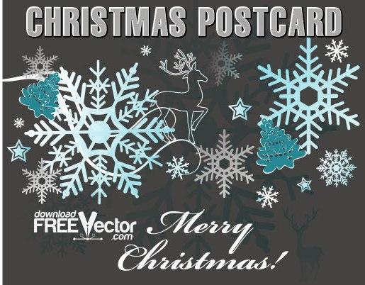 олень, снежинки, рождественский, новогодний фон, рисунок в векторе, AI, EPS
