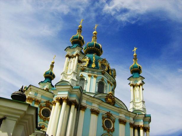 религия, собор, Киев, Андреевский собор, фотография, картинка высокого разрешения