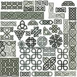 Кельтские символы в векторе.