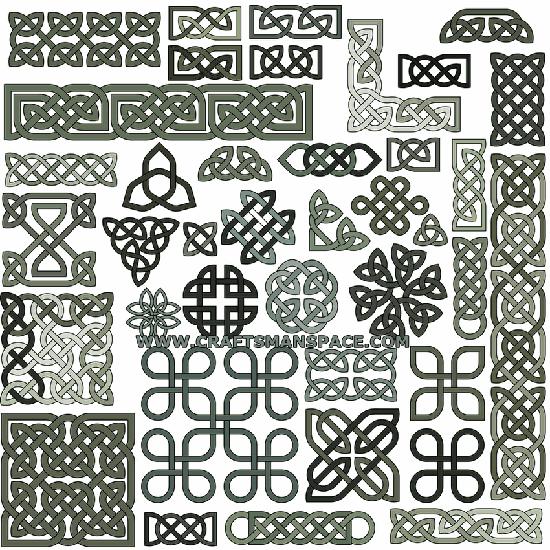 кельтские символы, узлы, плетения, тату, рисунок в векторе, EPS