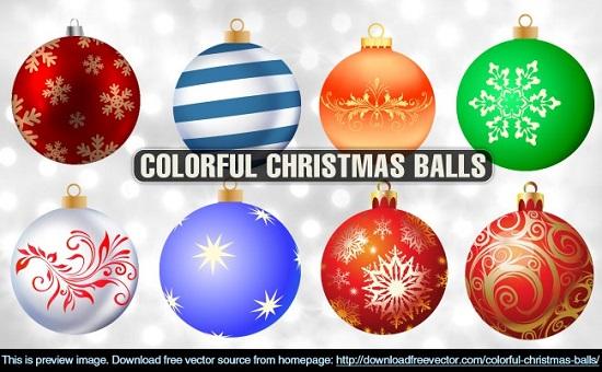 Новогодние шары с рисунками в векторе. Клипарт.