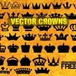 Королевские короны в векторе. Силуэт. Корона