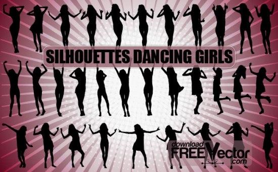 танец, силуэт танцовщицы, силуэт танцующей девушки, силуэт в векторе, SVG, EPS