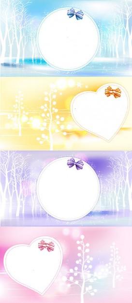 Зимняя рамка - любовь, мечта в векторе