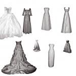 Свадебные платья. Кисти для фотошоп.
