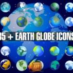 Векторная планета Земля. Земной шар в векторе.