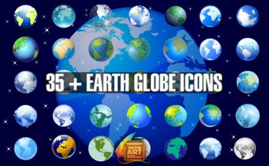 планета Земля, Земной шар, глобус,  рисунок в векторе, векторное изображение