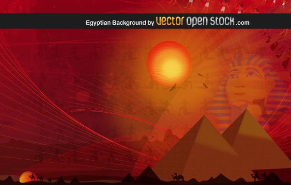Египетские пирамиды в векторе.
