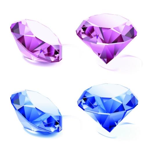 драгоценные камни, алмазы, рисунок в векторе, AI