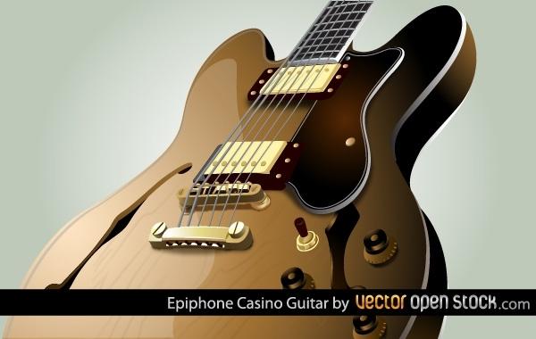 электрогитара, рок, музыкальные инструменты, в векторе, AI