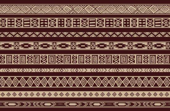 Этнические узоры в векторе. Фон.