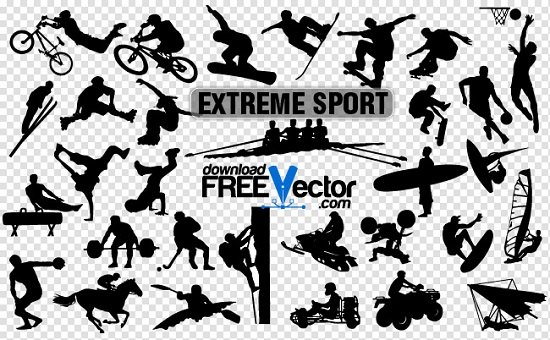 Экстремальный спорт в векторе.