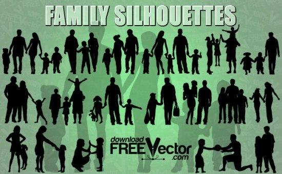 Силуэт семьи  в векторе. Силуэт женщины с ребенком