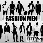 Векторные мужские силуэты