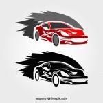 Рисунки гоночных автомобилей в векторе.