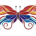 Сказочная бабочка в векторе