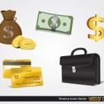 Деньги, финансы в векторе.