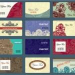 Макеты визиток в векторе с рисунками