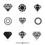 Рисунок алмаза, бриллианта в векторе