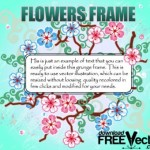 Летняя рамка с цветами в векторе