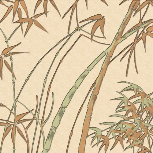бамбук, листья, роща, лес, деревья, стволы, листва,пастельные тона, рисунок, картина, Китай, Япония, растровые изображения, формат JPG, автор tet126, фон, обои