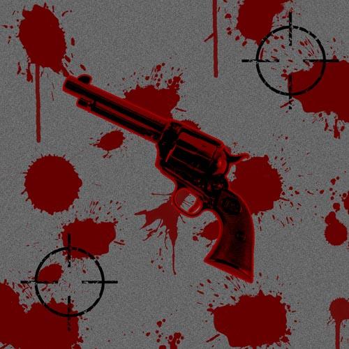 кровь,пятна, пистолеты, стволы, мишень, курок, асфальт, убийство, выстрел, высокое разрешение, автор, tet126